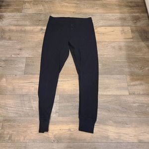 L Old Navy Black Waffle Thermal Pants